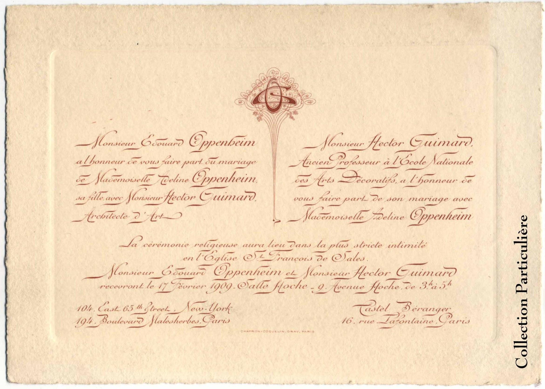 faire part mariage 1920