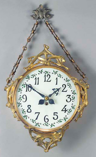 Horloge boulangère, Vente Christie's 2463 « After a design by Hector Guimard».