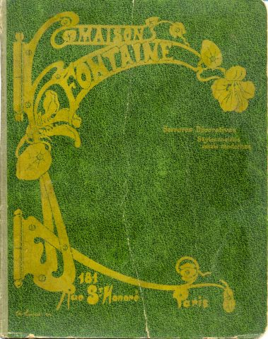 Couverture du catalogue de la Maison Fontaine. Serrures décoratives/Styles anciens/essais modernes, août 1900. Coll. part.