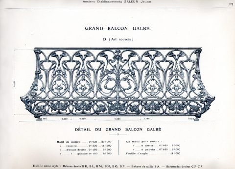 Planche 25 du catalogue Nouvelles Créations de la fonderie de Saint-Dizier, édition augmentée, 1906. Coll. part.