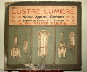 Panneau publicitaire des lustres lumière, coll. privée.