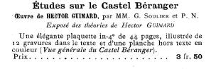 Annonce parue dans Bibliographie française, recueil de catalogues des éditeurs français par H. Le Soudier, 1900.