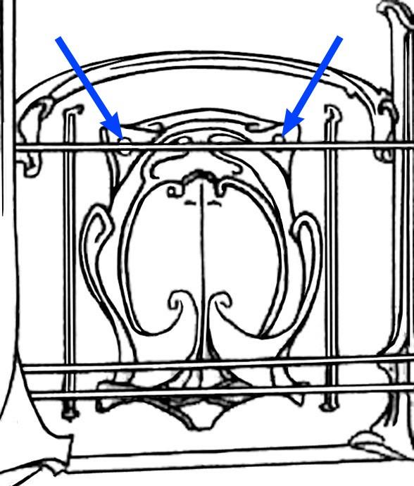 L'erreur de conception dans l'accrochage des écussons des balustrades du métro
