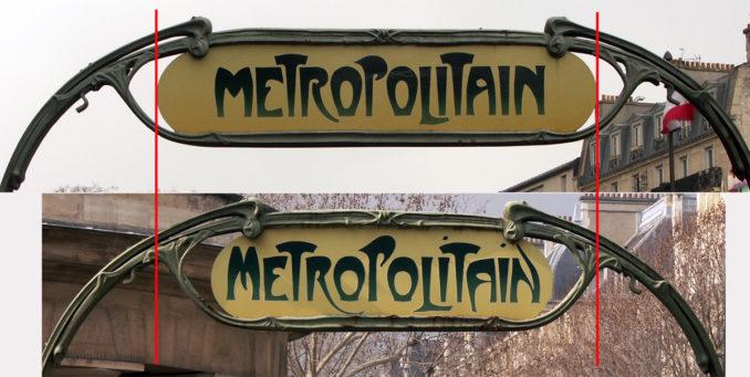 Les entourages de métro à trémies larges