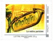 Le métro parisien timbré