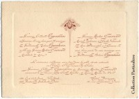 1909 – Faire-part de mariage