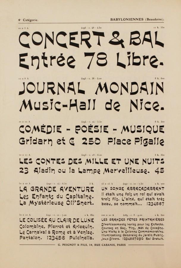 Bibliothèque Forney, Collections Forney, Réserve Peignot, RES PEI 101.