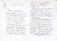 Hector Michaut - lettre