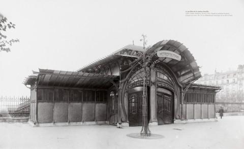 Le Pavillon de la station Bastille. Cliché Charles Maidron. 30 avril 1902.