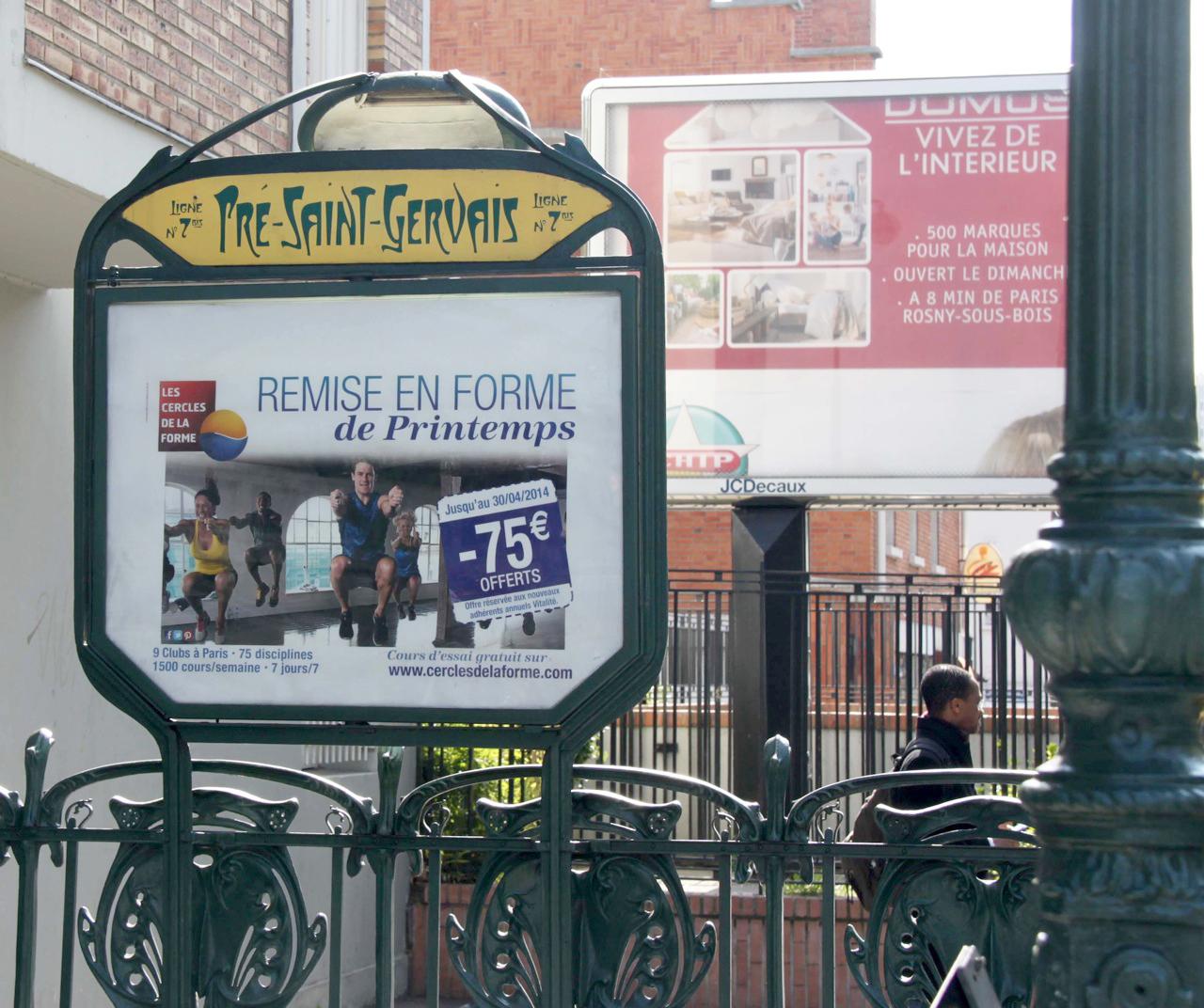 Plaque Metro Parisien Deco des « cornichons » du métro parisien - le cercle guimard