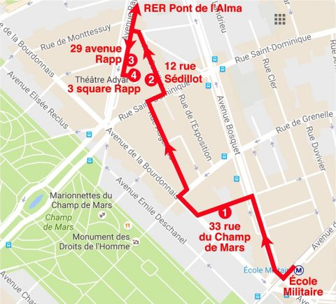 Hector Guimard - Parcours Lavirotte