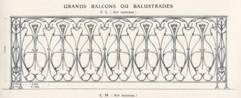 Fig. 1. Planche 20 du catalogue Nouvelles Créations de la fonderie de Saint-Dizier, édition augmentée, 1906. Coll. part.