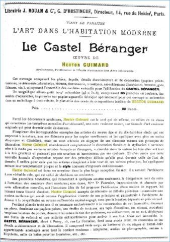Publicité parue dans les numéros de novembre et décembre 1898 de la Revue des arts décoratifs.
