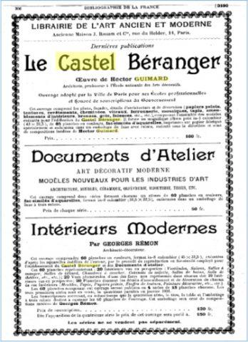 Publicité parue dans le numéro de novembre 1900 de la revue Bibliographie de la France.