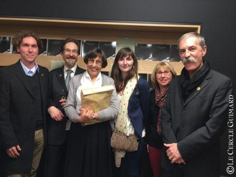 Françoise Aubry entourée de membres du Cercle Guimard