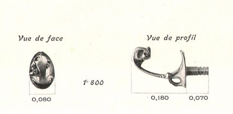 Porte-couronne GA. Catalogue Style Moderne des Fonderies de Saint-Dizier.