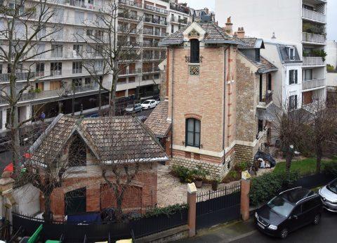 Façade arrière de l'Hôtel Jassedé, rue Chardon Lagache. Hector Guimard, 1893. Coll. part.