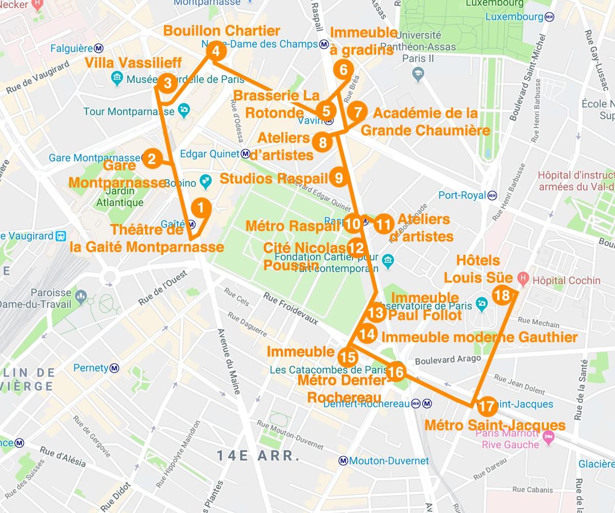 Visites guidées, un nouveau parcours : Montparnasse 1900 et l'architecture d'ateliers d'artistes