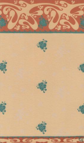 Portfolio du Castel Béranger, papier peint des salles à manger, pl. 45